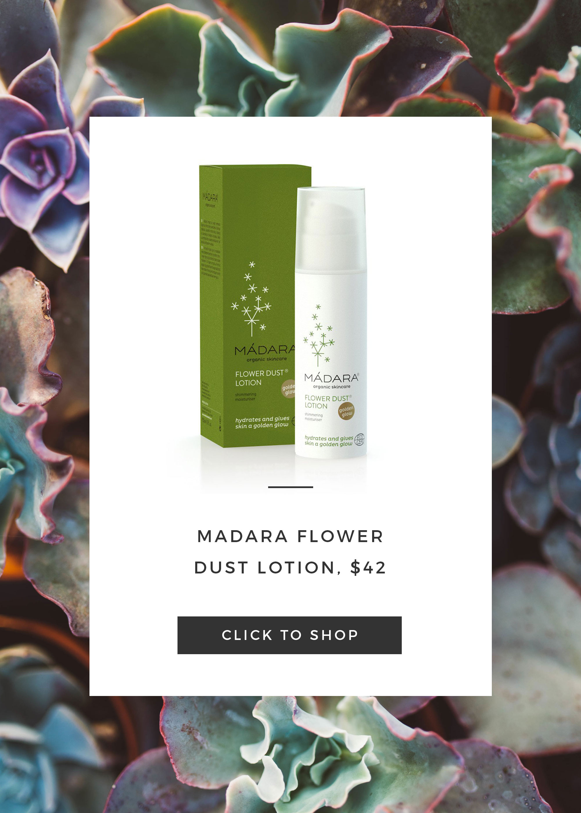natural moisturisers madara flower dust lotion